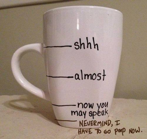 Never mind coffee cup