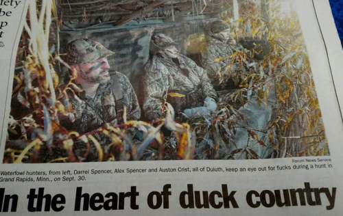 In the heart of duck country caption