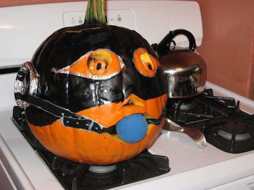 Them pumpkin enjoyed the carving way too much.