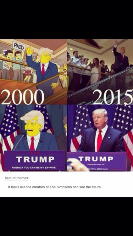 simpsons donald trump