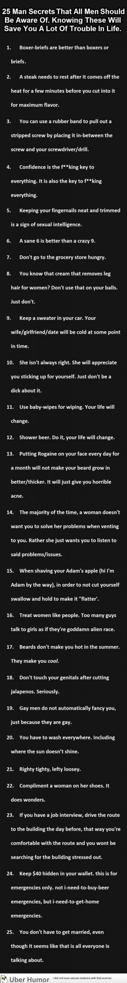 advice for men