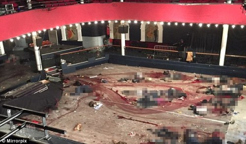 Bataclan Theater crime scene