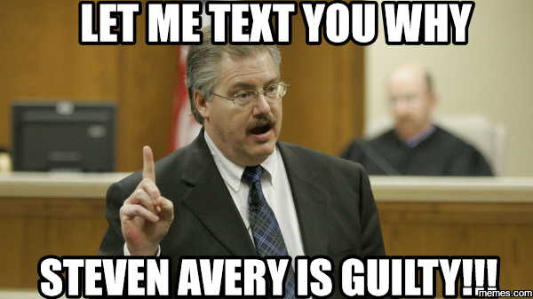 why steve avery is guilty?w=500&h=281 making a murderer meme duck duck gray duck,Making A Murderer Meme