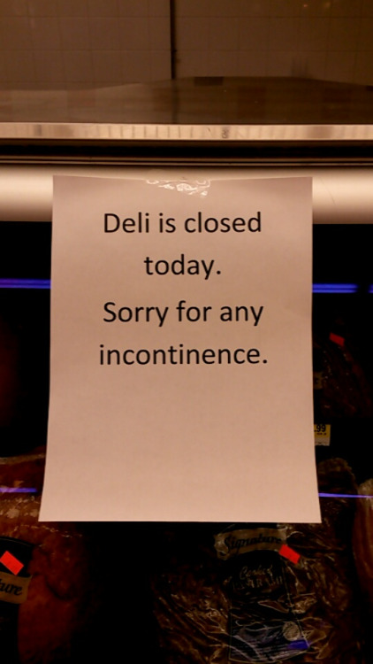 funny deli closed sign