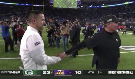 mike-zimmer-matt-lafleur-handshake