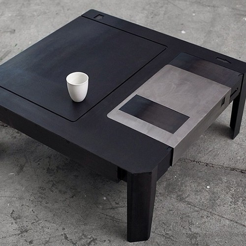 floppy disc coffee table